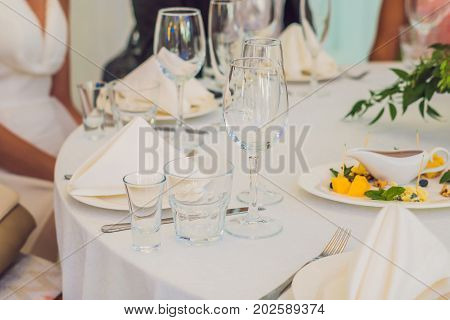 Catering Service. Restaurant Table With Food. Huge Amount Of Food On The Table. Plates Of Food. Dinn