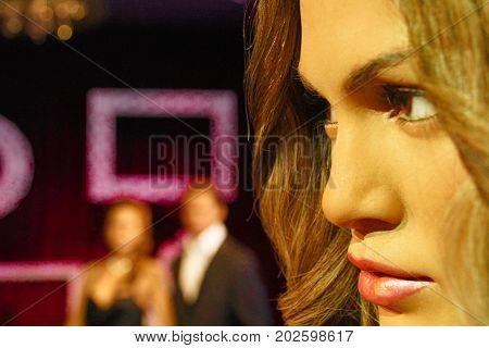 Los Angeles CA USA - 28 Oct 2013: Madame Tussauds Hollywood figures - Jennifer Lopez.