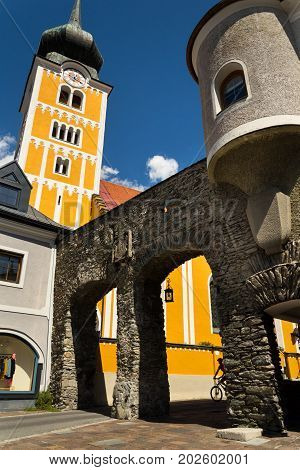 Roman Catholic Church In Schladming City Center, Austria
