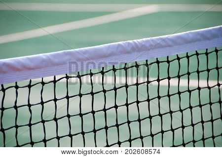 Mesh on the tennis court. Great tennis background