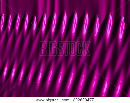Abstract digital fractal in glossy pink resembling lipstick