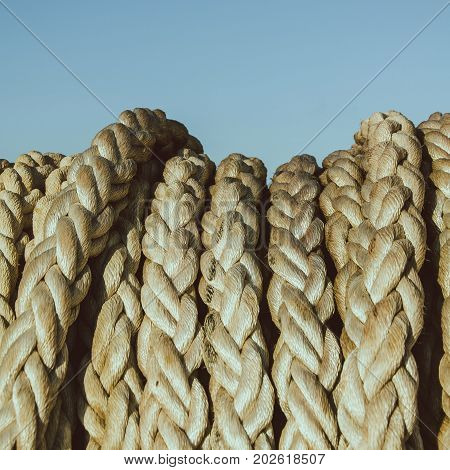 A bundle of the solid navigation rope