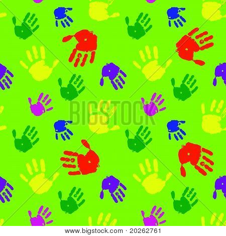 Color hands palms background