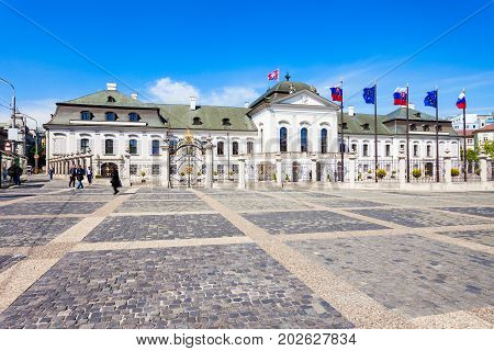 Grassalkovich Palace In Bratislava