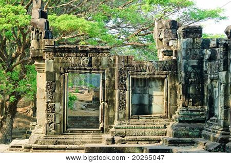 A temple in the central Angkor thom,Siem Reap,Cambodia