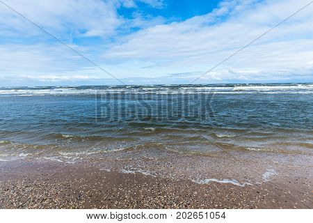 Sea landscape at the North Sea in Holland