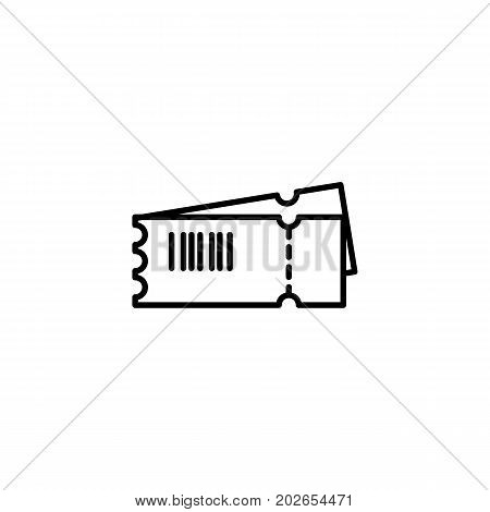 Ticket With Barcode Icon On White Background