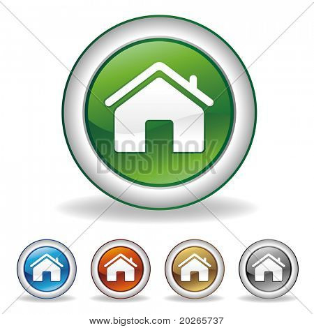 vector houses icon set