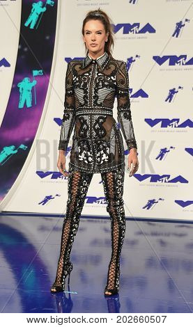 LOS ANGELES - AUG 27:  Alessandra Ambrosio arrives for the MTV Video Music Awards 2017 on August 27, 2017 in Inglewood, CA