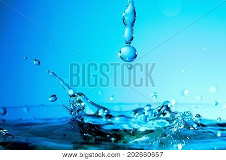 Water Splash as wallpaper / Water is a transparent and nearly colorless chemical substance that is the main constituent of Earth's streams, lakes, and oceans, and the fluids of most living