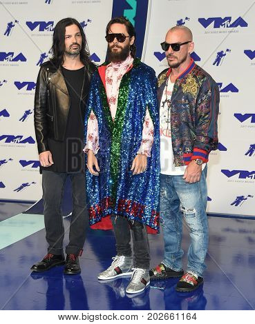 LOS ANGELES - AUG 27:  Thirty Seconds to Mars with Jared Leto arrives for the MTV Video Music Awards 2017 on August 27, 2017 in Inglewood, CA