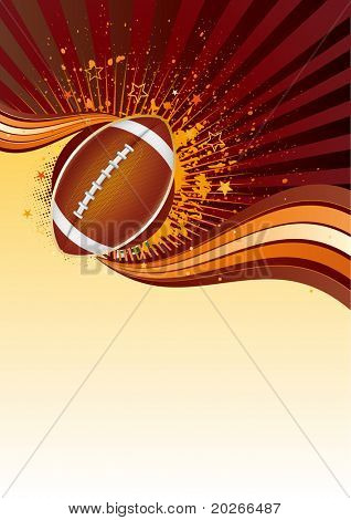 american football sport design element poster