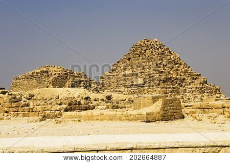 Pyramid of Queen Henutsen and Pyramid of Queen Meritethis I