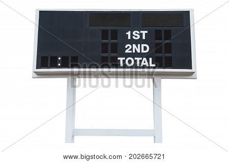 Large Scoreboard isolated on white background. with clipping path