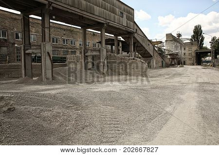 Territory of concrete batching plant