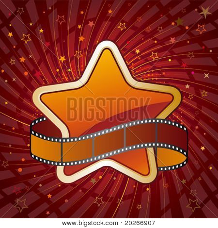 film and star,design element for movie theme
