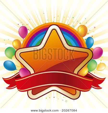 star,balloon,celebration background