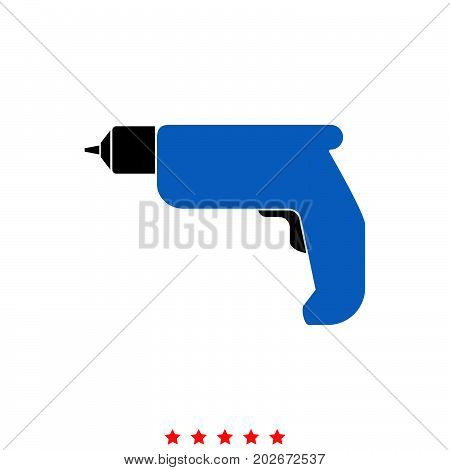 Hand Drill It Is Icon .
