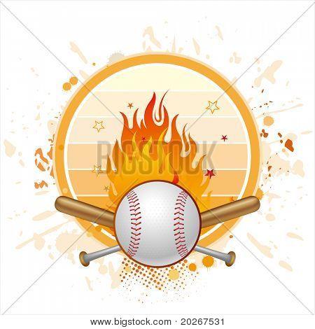 baseball and flame