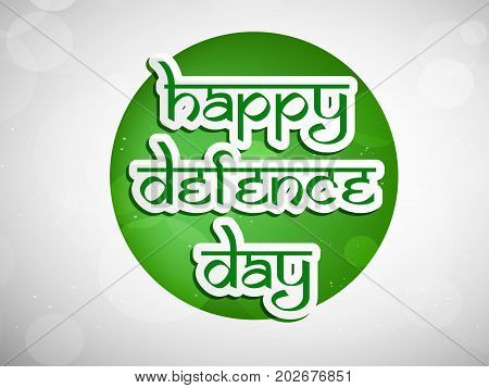 illustration of happy Defence Day text on web button background on the occasion of Pakistan defence day