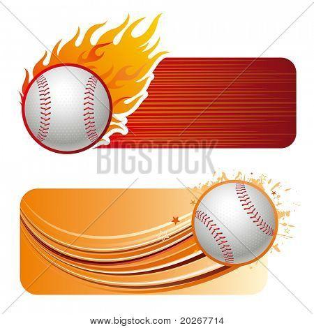 baseball design element and flames