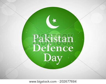 illustration of moon and star with Pakistan defence Day text on web button background on the occasion of Pakistan defence day