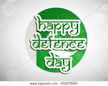 illustration of Happy defence Day text on Pakistan flag background on the occasion of Pakistan defence day