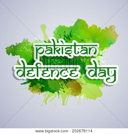 illustration of Pakistan defence Day text on the occasion of Pakistan defence day