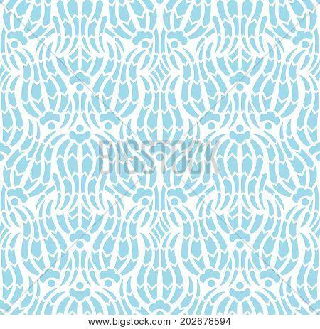 Floral tulip iznik pattern. Seamless vector background in arabic style. Islamic turkish art