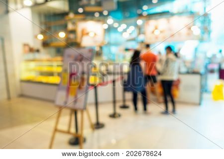 Abstract blurred in restaurant while queued order Business abstact background.