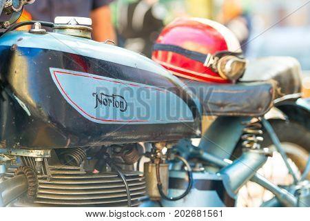 Norton Motorcycle Vintage At Vintage Motorcycle  Show