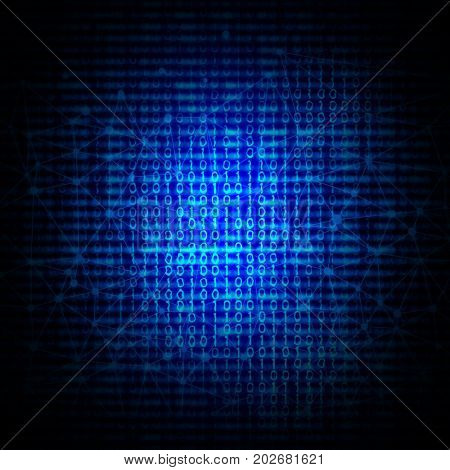 Abstract background with binary code design