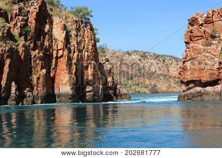 Natural wonder, the Horizontal Waterfalls, Kimberley region, Western Australia.