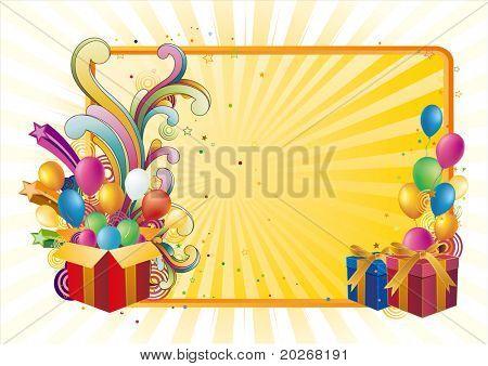 gift box and balloon,celebration background