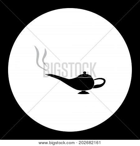 Fairytale Lamp Simple Silhouette Black Icon Eps10
