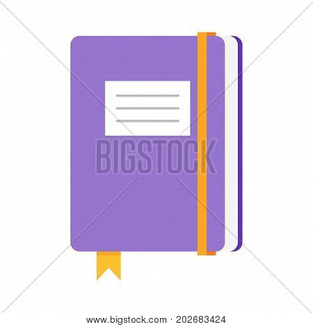 Vector flat style illustration of copybook. Icon for web. Isolated on white background.