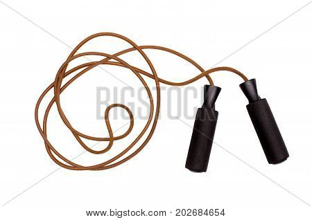 Jump rope isolated on white background. Skipping rope isolated.