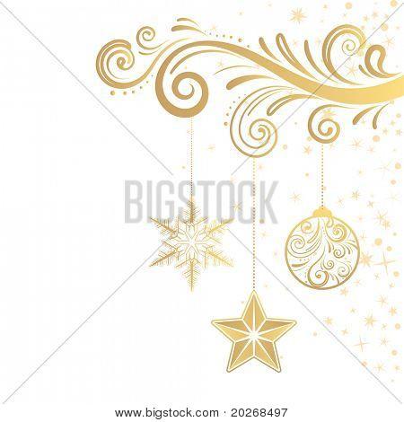 estrellas y adornos de Navidad