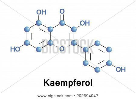Kaempferol is a natural flavonol a type of flavonoid found in a variety of plants and plant-derived foods
