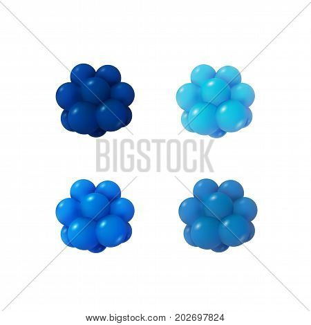 Abstract Atoms structure. 3d vector protons neutrons and electrons. Science concept.