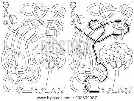 Apple Picking Maze