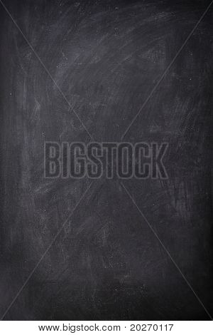 Blackboard / Chalkboard empty blank sign vertical. Used feel with great texture.