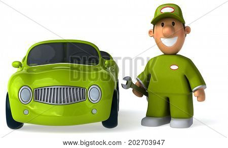 Fun mechanic - 3D Illustration
