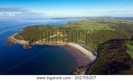 Editorial SWANSEA, UK - SEPT 02, 2017: Pwll Du Bay on the South Gower peninsula, Swansea, a pebbled and remote beach and a popular smuggling cove in past times, rarely visited by tourists