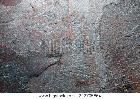 Background from gray with brown colored stone texture horizontal