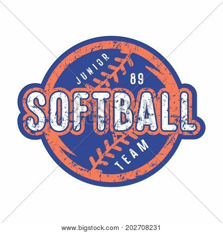 Emblem Of Softball Junior Team