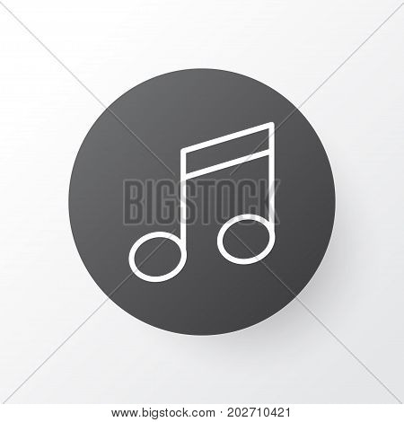 Premium Quality Isolated Crotchets Element In Trendy Style.  Music Note Icon Symbol.