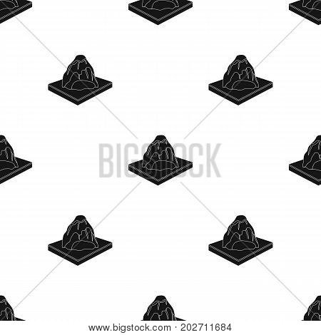 Mountains, rocks and landscape. Relief and mountains single icon in black style isometric vector symbol stock illustration .