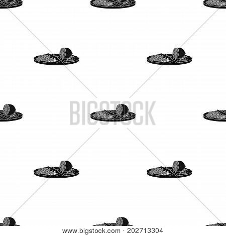 Slicing lemon and olives. Eating and cooking single icon in black style vector symbol stock illustration .