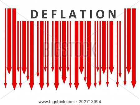 Deflation bar code